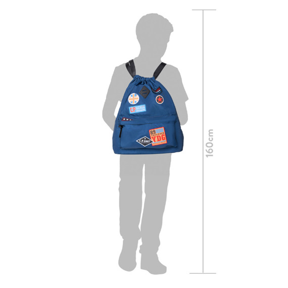 Backpack CoolPack Urban Badges Girls Black 38487CP No. B73056