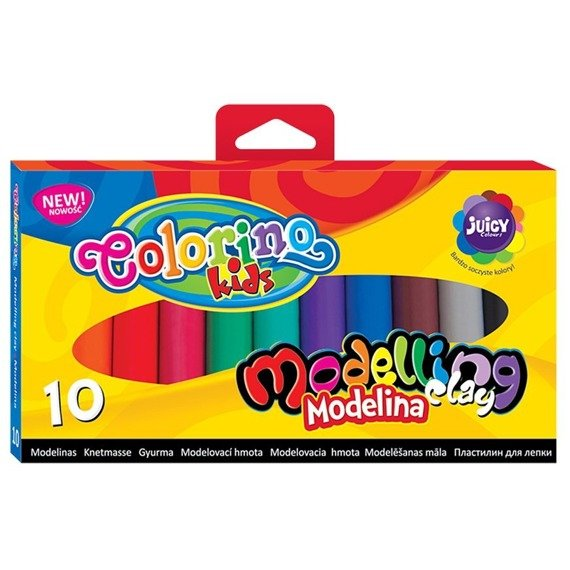 Modeling clay 10 colours Colorino Kids 42741PTR