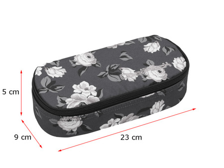 Pencil case Coolpack Campus Grey denim flowers 80347CP nr 1075