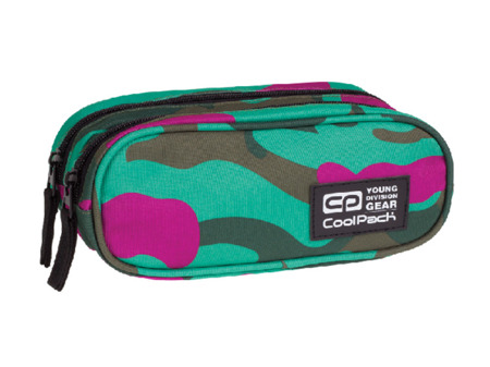 Pencil case Coolpack Clever Camouflage emerald 76555CP No. 869