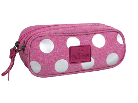 Pencil case Coolpack Clever Silver dots / pink 78566CP No. 701