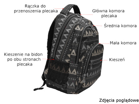 School backpack Coolpack Basic Motion check 68987CP nr 891