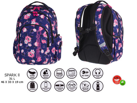 School backpack Coolpack Spark II Caribbean beach 73196CP nr 743