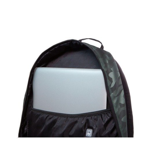 Set Coolpack Army Black - Impact II backpack and Campus pencil case