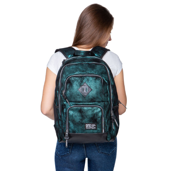 Set Coolpack Army Red - Unit backpack, Campus pencil case and gymsack Sprint