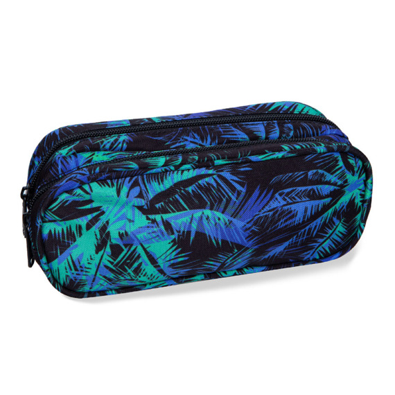 Two-chamber school pencil case CoolPack Clever Palms Tangle 24480CP No. B65030