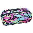 Two-chamber school pencil case CoolPack Clever Pastel Leaves 31129CP No. B65050