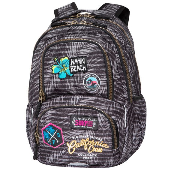 Plecak szkolny CoolPack Spiner Termic Badges Girls Grey 80301CP C01155